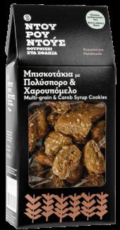 Μπισκότα Πολύσπορο Χαρουπόμελο-Ντουρουντούς Φούρνος