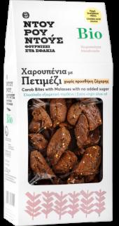 Βιολογικές Χαρουπένιες Μπουκιές Πετιμέζι-Ντουρουντούς Φούρνος